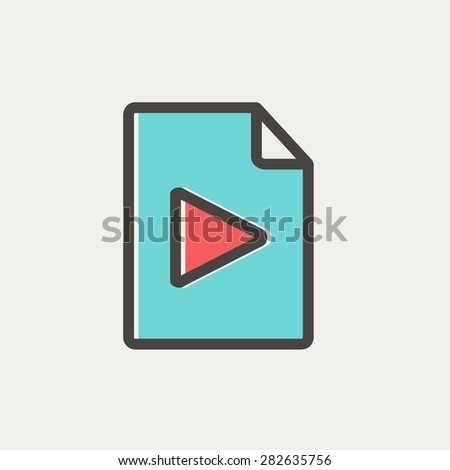 Folded edge icon thin line for web and mobile, modern minimalistic flat design. Vector icon with dark grey outline and offset colour on light grey background. - stock vector