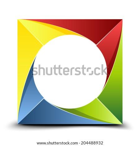 Folded figure - stock vector