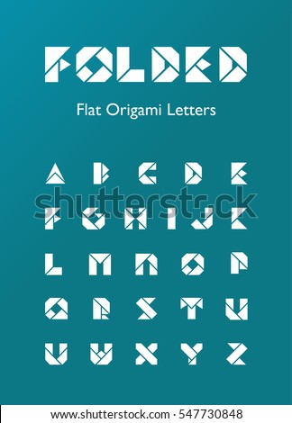 Folded Flat Origami Letters Stock Vector 547730848