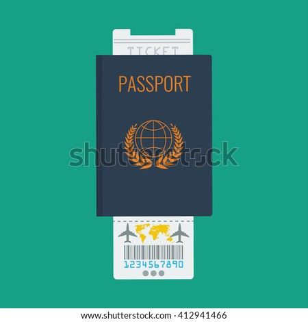Folded map paper icon for traveler or tourist. Flat color design. - stock vector