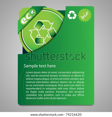 Folder design content - stock vector