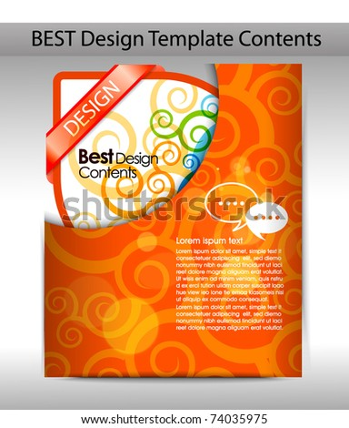 Folder design content background. editable vector illustration