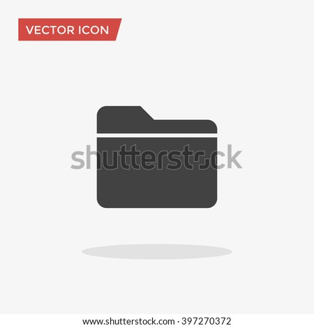 Folder Icon in trendy flat style isolated on grey background. Vector illustration, EPS10. - stock vector