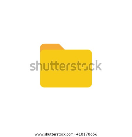 Folder Icon in trendy flat style isolated on white background. Vector illustration, EPS10. - stock vector