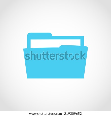 Folder Icon Isolated on White Background - stock vector