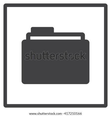 Folder Icon JPG, Folder Icon Graphic, Folder Icon Picture, Folder Icon EPS, Folder Icon AI, Folder Icon JPEG, Folder Icon Art, Folder Icon, Folder Icon Vector, Folder sign, Folder symbol - stock vector