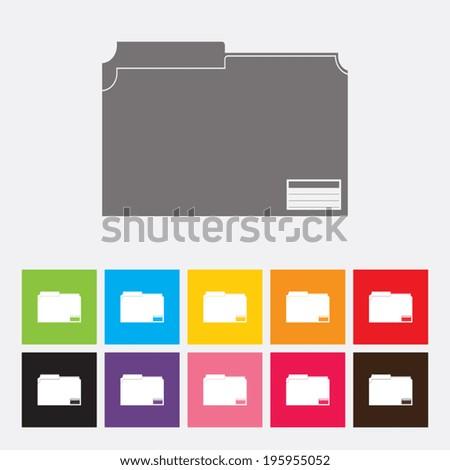 Folder icon - Vector - stock vector