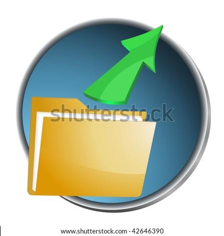 Folder icon. Vector illustration. - stock vector