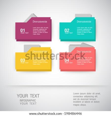 Folder icons Business set - illustration - stock vector