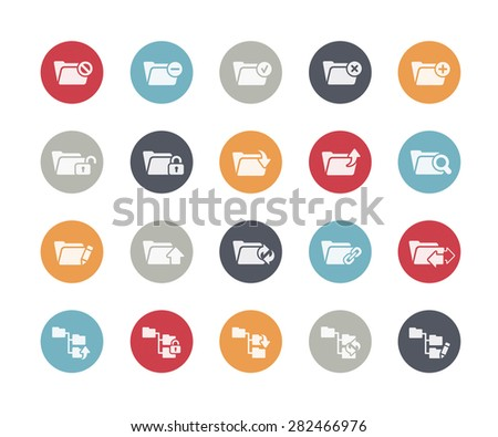 Folder Icons Set 1 of 2 // Classics Series - stock vector
