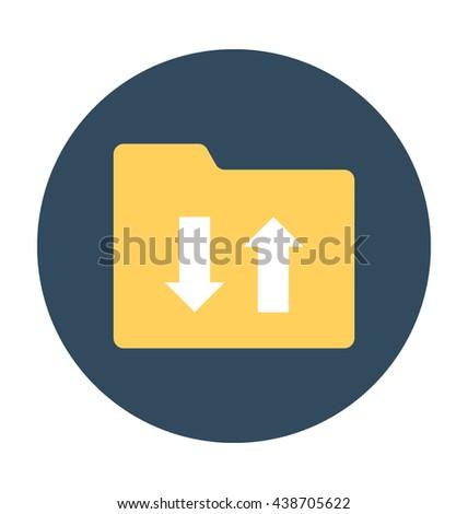 Folder Sharing Vector Icon - stock vector