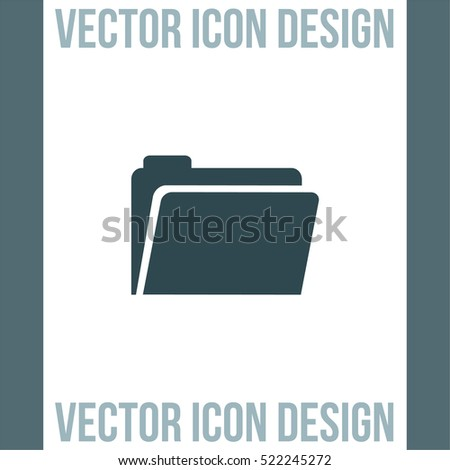 Folder sign vector icon. Accounting audit sign. Archive symbol.
