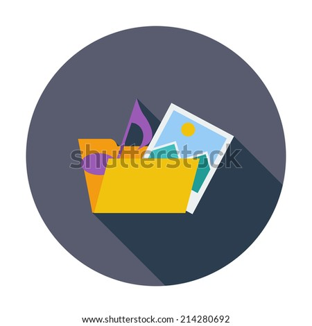 Folder. Single flat color icon. Vector illustration.