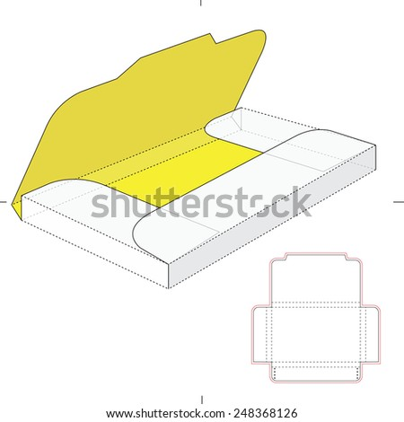 Folder Sleeve with Die Cut Template - stock vector