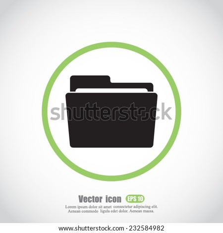 folder vector icon - stock vector