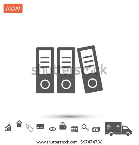 folder . Vector icon 10 EPS - stock vector