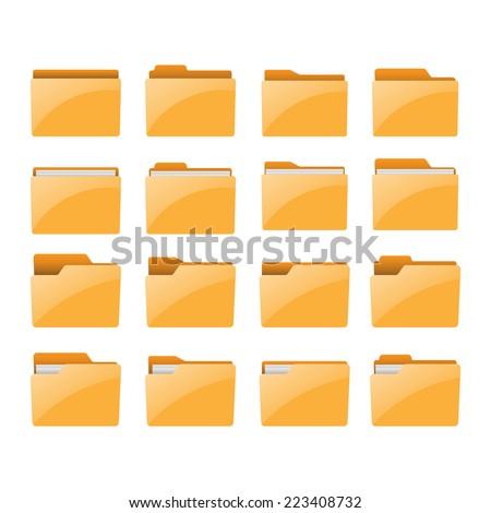 Folder. Vector illustration. - stock vector