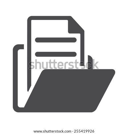 Folder vector image to be used in web applications, mobile applications and print media.