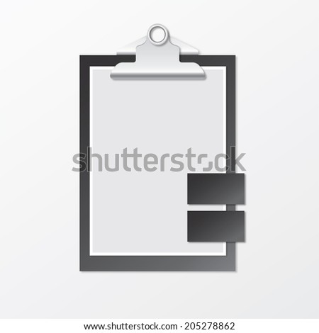Folder with clip with cards - stock vector