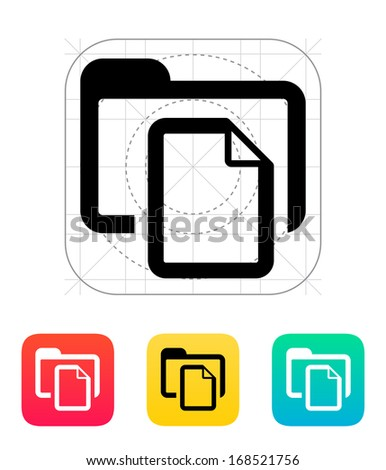 Folder with files icon. Vector illustration.
