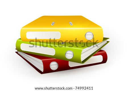 Folders, 10eps - stock vector