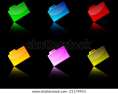 folders illustration - stock vector