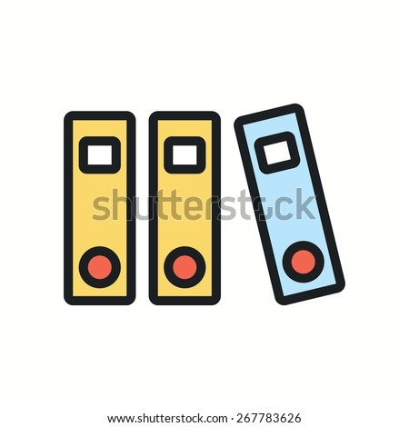 Folders with documents icon.Vector illustration. - stock vector
