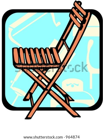 Folding chair Pantone colors Vector illustrationDirectors Chair Stock Vector 52138453   Shutterstock. Pantone Folding Chairs For Sale. Home Design Ideas