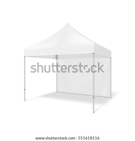 Folding tent. 3d Illustration isolated on white background. Graphic concept for your design