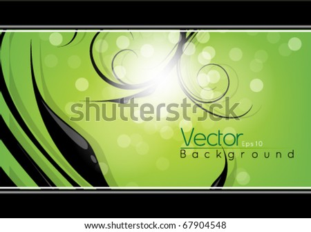 Foliage abstract design in eps10 vector format