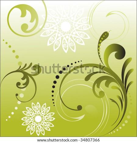 foliage elements - stock vector