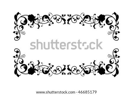 foliage frame - stock vector