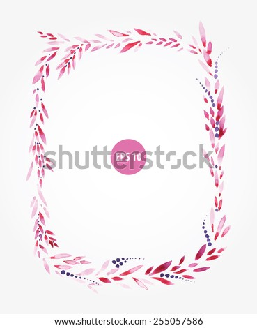 foliage square frame for opencard, wedding invation. Banner for text - stock vector