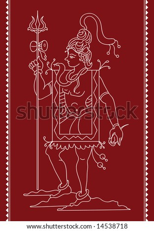 Folk Lord Shiv tribal Design, Motif