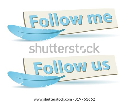 Follow Boards, for Social Networks - stock vector