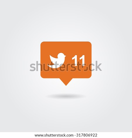 Follower counter icon. Vector illustration. - stock vector
