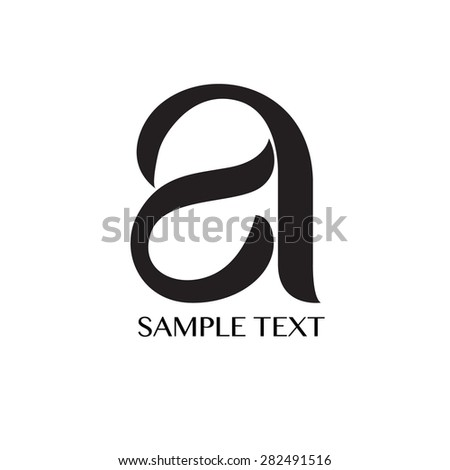 Font - stock vector