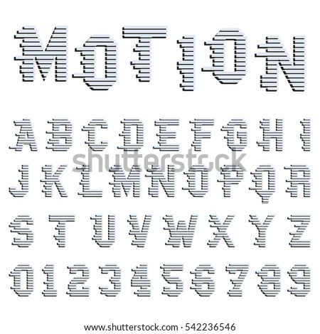 Speed Font Vector Motion Lines Alphabet Stock Vector 317116043 ...