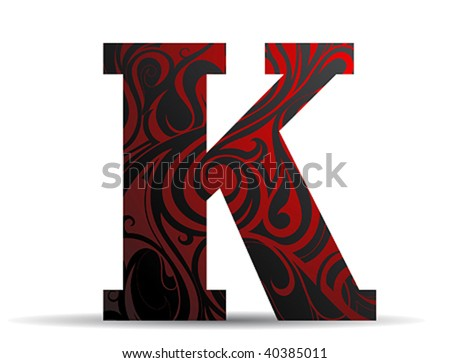Font K - stock vector