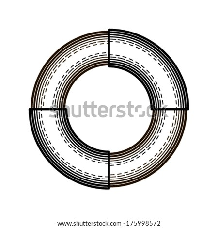 Font made in the style of engraving. - stock vector