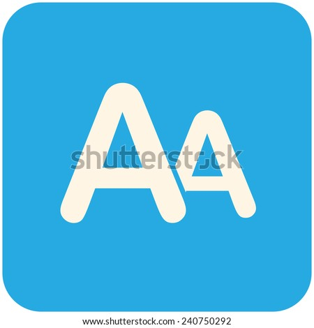 Font size, modern flat icon - stock vector