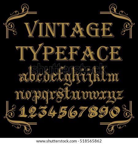 Font. Typeface. Script. Vintage script font. Vector typeface for labels and any type designs