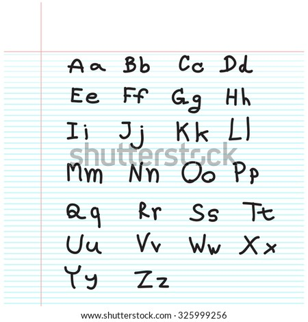 Fonts & symbols calculation with freehand drawing style - stock vector