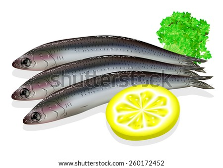 food anchovy with lemon