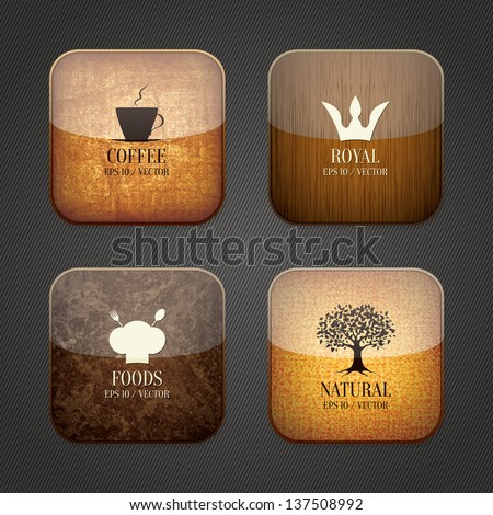Food and drink application icons - stock vector