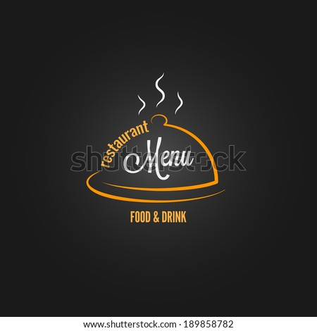 food and drink menu design background - stock vector