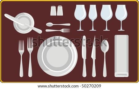 food and drink restaurant etiquette, - stock vector