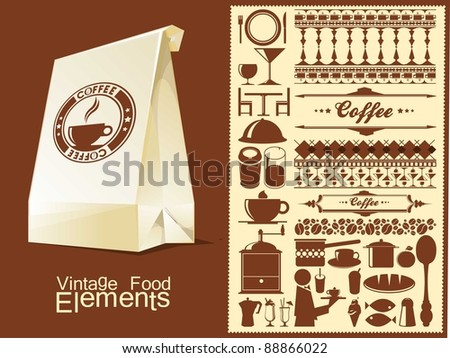 food and drink vector elements - stock vector