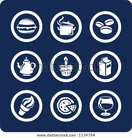 "Food and Kitchen (p.1). To see all icons, search by keywords: ""agb-vector"" or ""agb-raster"""