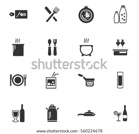 Food And Kitchen Vector Icons For User Interface Design Part 95